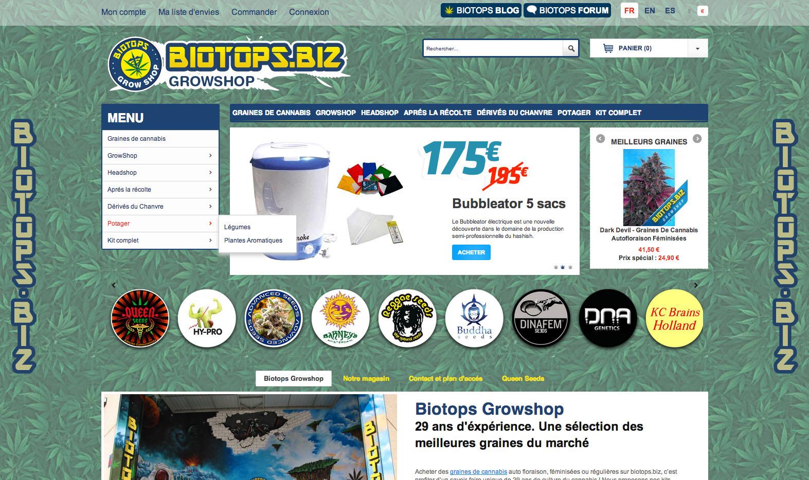 Capture d'écran du nouveau site