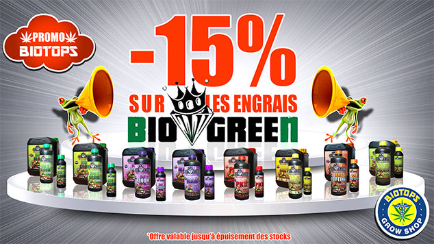 15% d'économies avec Biotops