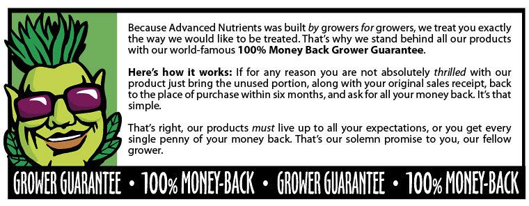 gage de confiance Advanced Nutrients