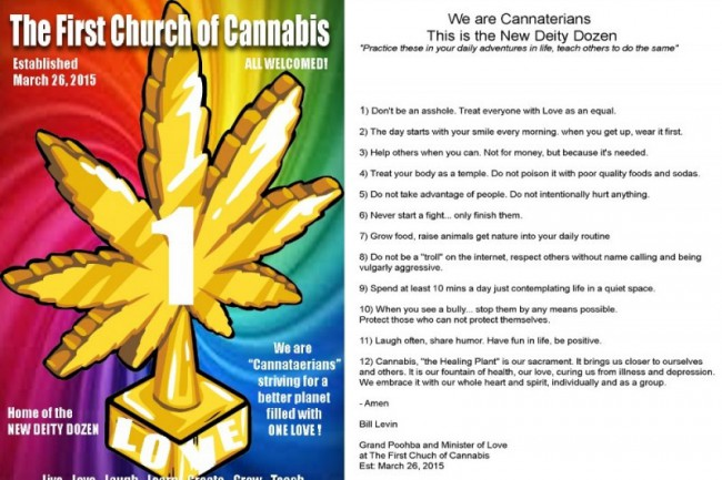 commandements de l'église du cannabis