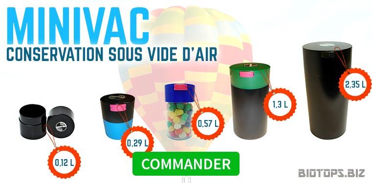 MiniVac Boîte sous vide d'air pour la conservation du cannabis
