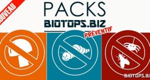 les Pack Préventif sont en vente chez biotops