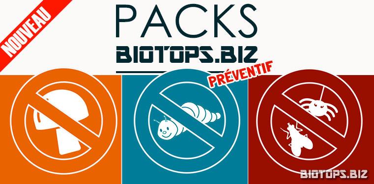 les Packs Préventifs  sont en vente chez biotops